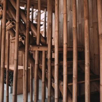 Trapafscheiding bamboepalen