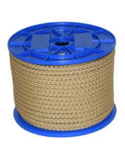 Gevlochten multilon touw beige